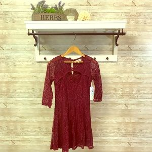 NWT lace fit and flare dress